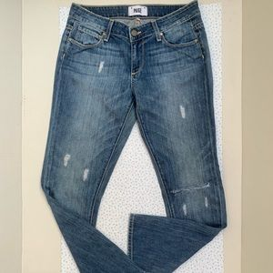 Paige -low rise straight jeans